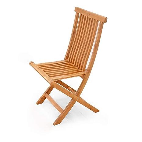 Amazon.com: MXYXN Silla plegable de madera maciza para casa ...