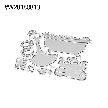 Feida - Troqueles de corte, diseño de oso para bañera, metal, para manualidades, álbum de recortes, tarjetas de papel W20180810: Amazon.es: Hogar