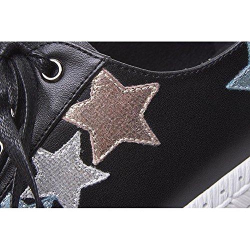KJJDE Spessa Tacco Suola Modello Pentagramma Donna Piattaforma nero Creative WSXY Zeppa Multicolore A3217 fw6SOq6
