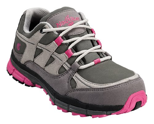 Nautilus 1771 Women's ESD No Exposed Metal EH Safety Toe Athletic Shoe,Grey/Iris,7.5 M US