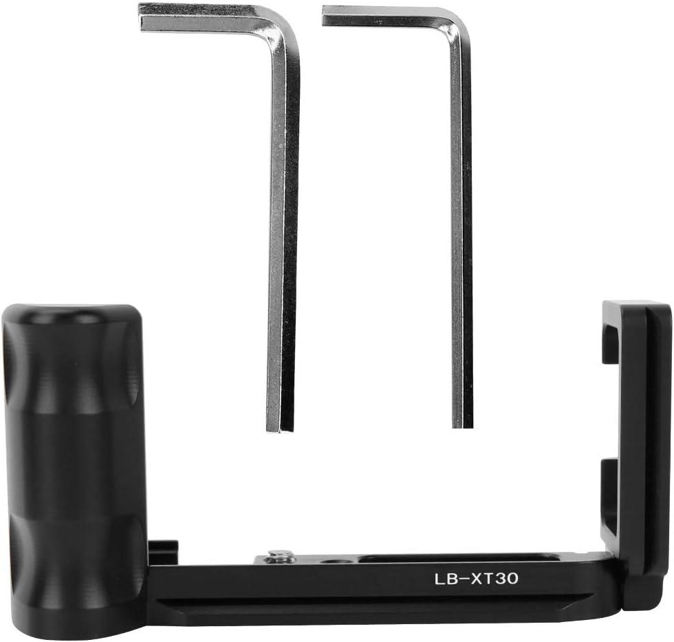 L-f/örmiger Handgriff mit Schnellwechselplatte f/ür X-T30 spiegellose Kamera Aluminiumlegierung Schwarz