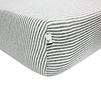 Burt's Bees Baby - Bee Essentials Stripe Fitted Crib Sheet, 100% Organic Crib...