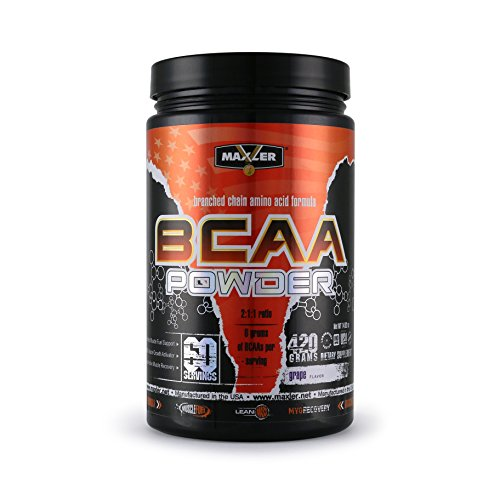 MAXLER BCAA Powder, Grape, 60 Servings