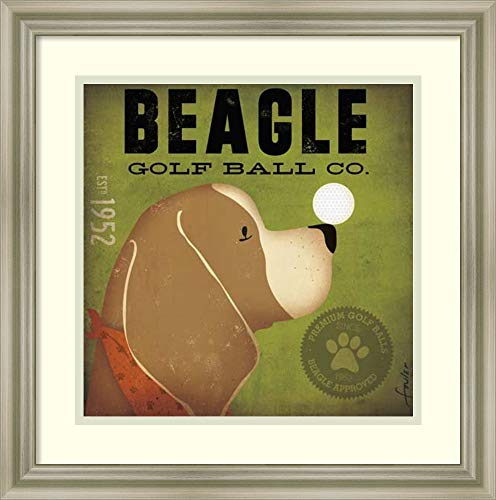 Framed Wall Art Print   Home Wall Decor Art Prints   Beagle Golf Ball Co. by Stephen Fowler   Modern Decor