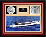 Navy Emporium USS Barb SSN 596 Framed Navy Ship Display Burgundy