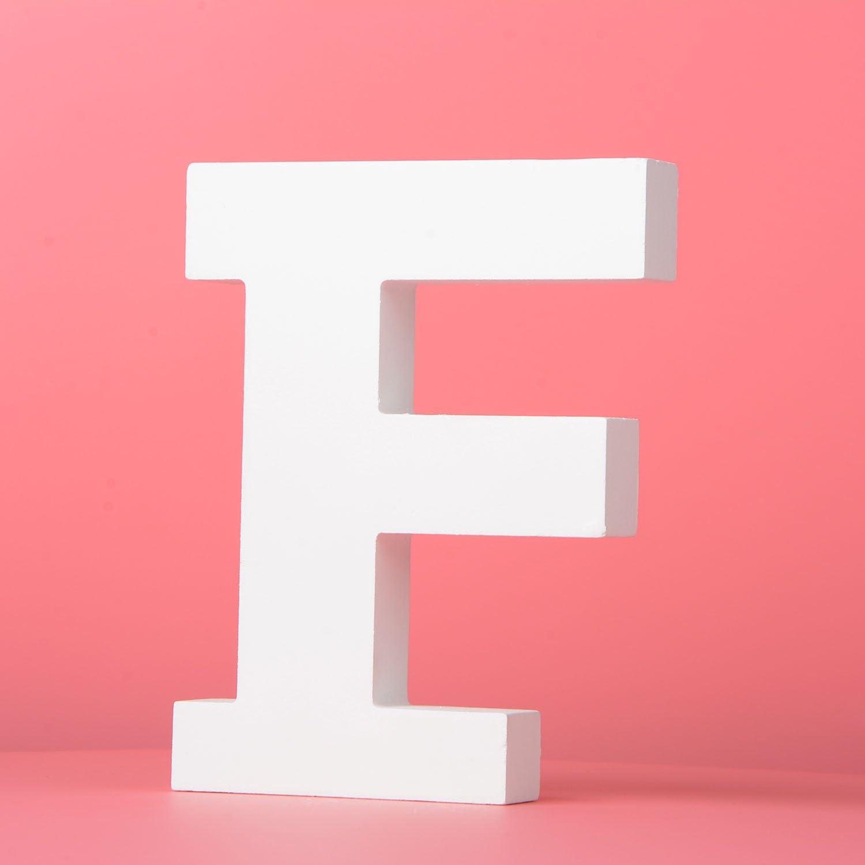 lettre d/écorative blanche de mur pour la chambre /à coucher de b/éb/é de chambre /à coucher de b/éb/é nom de b/éb/é et d/écor de chambre /à co Lettres en bois de grand mur accrochant A-Z