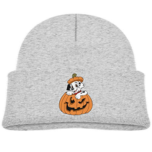 Head Space Puppy Clipart Halloween Kid's Warm Hat Knitted Beanies Gray