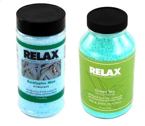 - Eucalyptus Mint & Green Tea Therapeutic Scented Dead Sea Salts – Aromatherapy Bath, Spa & Hot Tub Crystals for Soaking Aches
