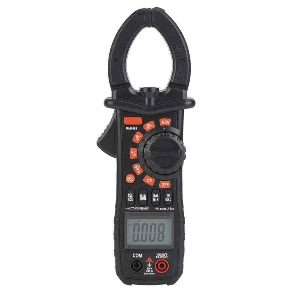 Digital Multimeter UA2018B Black Handheld Digital Clamp Meter DC/AC Voltage Measuring Digital Profesional Precise