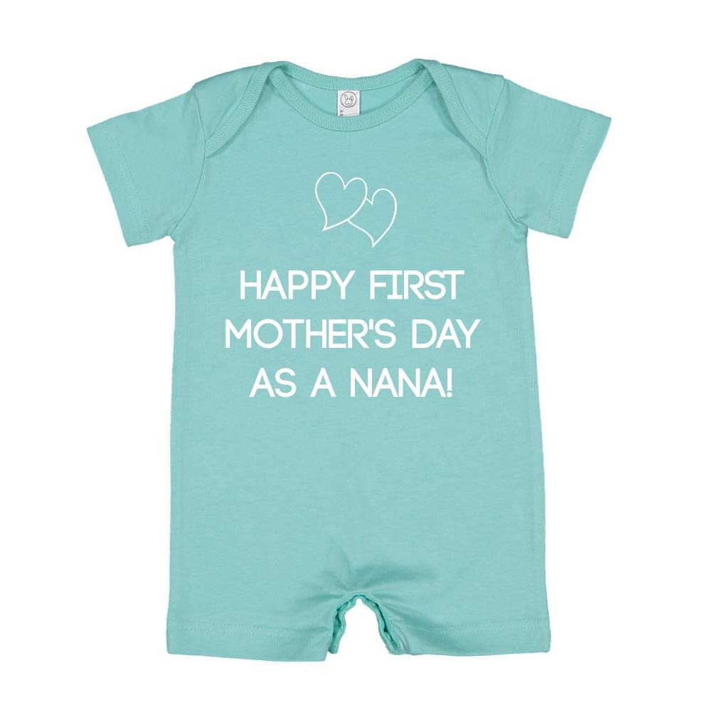 Happy First Mothers Day As A Nana Baby Romper