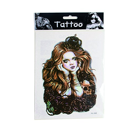7 Sheets Art Temporary Tattoo Transfer Sticker Fashion Waterproof Sternum Tattoos Creating Your Own Temporary Art Personalized Tattoos Stickers Long Lasting