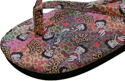 Betty Boop Dino Womens Fun Trendy Infradito Sandalo Infradito