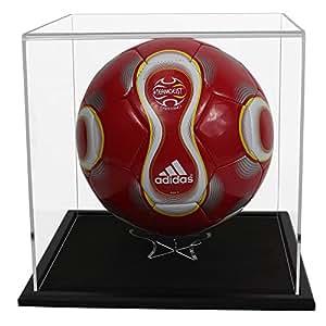 Widdowsons - Caja de exposición para balón de fútbol, base de madera