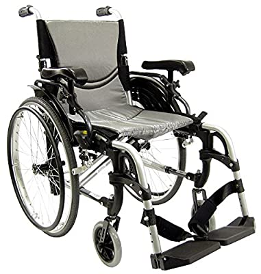 Karman 29 pounds S-305 Ergonomic Ultra Lightweight Wheelchair Pearl Silver