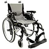 Karman Healthcare S-305 Ergonomic Ultra Lightweight Manual Wheelchair, Pearl Silver, 18-Inch Seat Width