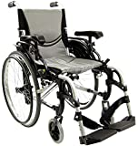 Karman 29 pounds S-305 Ergonomic Ultra Lightweight Wheelchair Pearl Silver