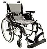 "Karman 29 pounds S-305 Ergonomic Wheelchair 18"" Pearl Silver"