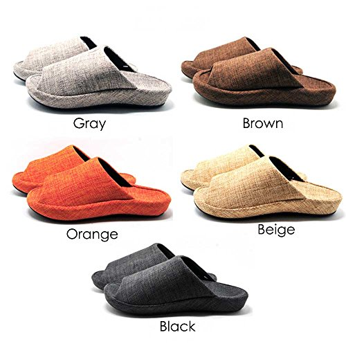Cushioned Linen Platform Peep Slipper Flat plus Sandals Beige Q Toe House Women Shoes Mules Slide Men Slippers Foam z7dqw