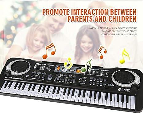 Soleiler Piano Infantil, 61 Teclas Piano Teclado Infantil Juguete con Micrófono, 61 Teclas Teclado de Piano Portátil Principiantes Teclado electrónico ...