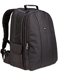 DSLR and Laptop Backpack - Orange interior