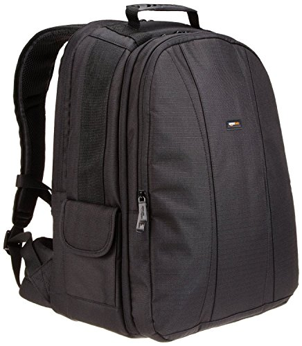 AmazonBasics DSLR and Laptop Backpack - Orange interior Photo Laptop