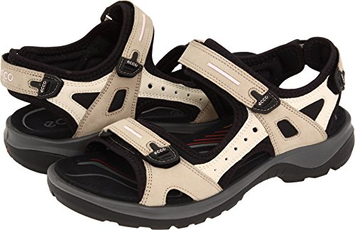 - ECCO Sport Women's Yucatan Sandal Atmosphere/Ice White/Black 43 B EU