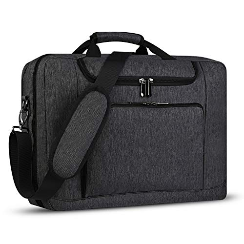 Laptop Bag 17.3 Inch Laptop Briefcase with Organizer, Expandable Large Business Messenger Computer Bag for Travel Business College School,Grey