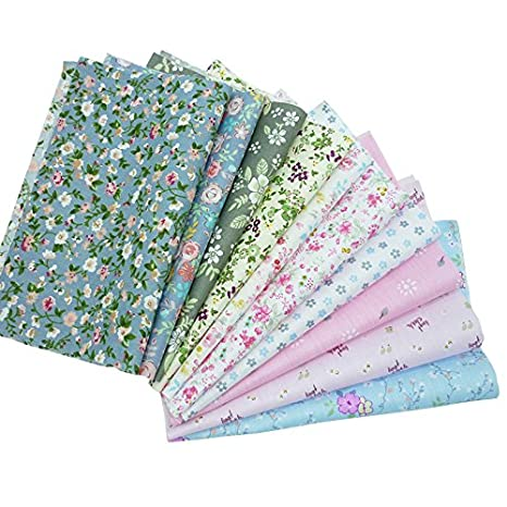 50pcs 7.8X 9.8 Floral Printed Cotton Fabric No Repeat Design Quilting Patchwork Fabrics For Sewing Tilda Doll Cloth Textile