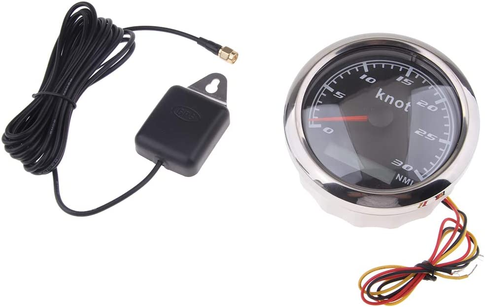 85mm 30 Knot Edelstahl GPS Tachometer Wasserdicht Digital Gauge Chrom