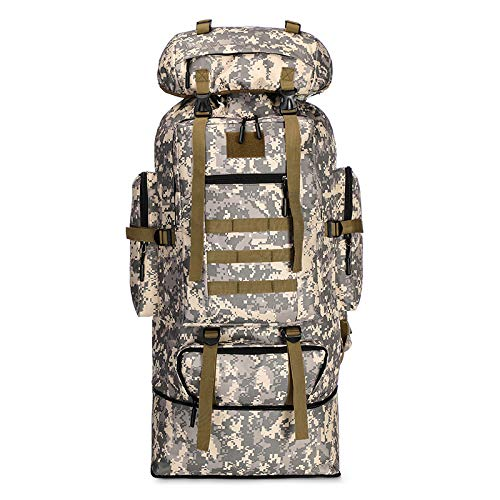 FKDG Hiking Backpack - 100l Large-Capacity Scalable Can Expand Camouflage Mountaineering Bag Outdoor Sports Backpack Hiking Camouflage Backpack Camping Backpack,F