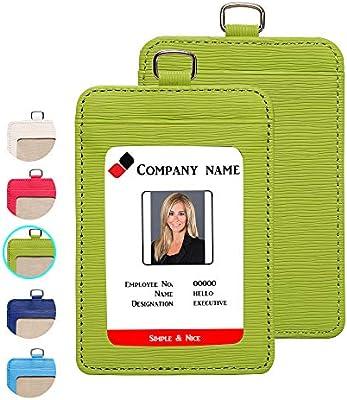 Amazon.com: Offcie - Funda de piel para tarjetas de ...