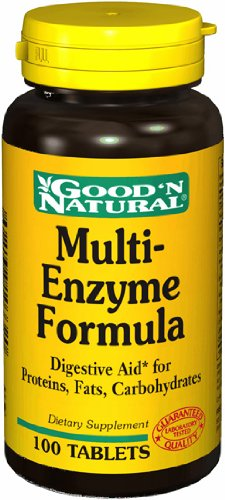 Multi Enzyme Formula - 100 tabs,(Good'n Natural)