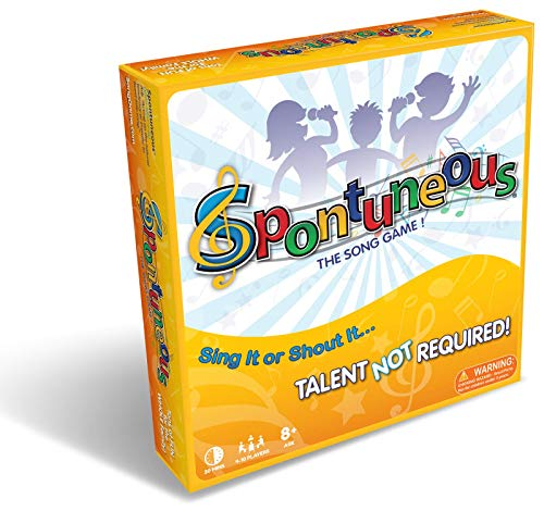 Spontuneous - The Song Game - Sing It or Shout It - Talent NOT Required (Family / Party Board Game) (Best New Family Board Games)