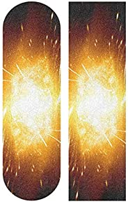 SLHFPX Galaxy Wolf Skateboard Grip Tape Sport Outdoor Skateboard Longboard Board Waterproof Griptape Sheet Sti