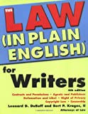 Law In Plain English for Writers (In Plain English)