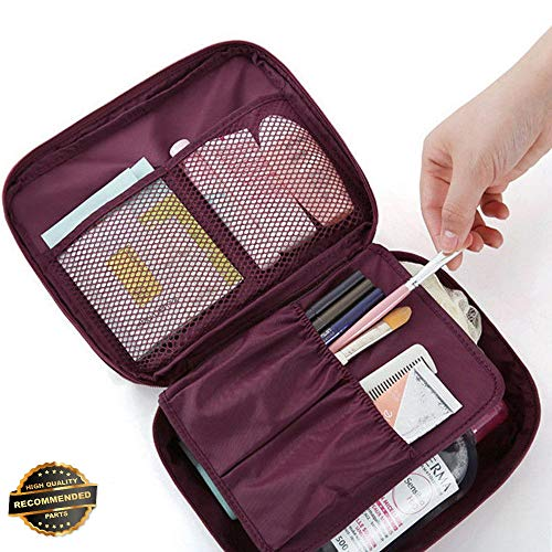 - Gatton Portable Travel Makeup Toiletry Case Pouch Flower Organizer Cosmetic Bag New | Style TRVIHR-11291850