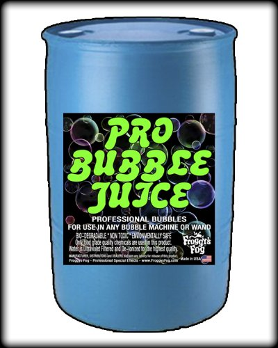 Froggys Fog - Pro Bubble Juice - Professional Bubble Fluid for All Bubble Machines and Bubblers - 55 Gallon Drum by Froggys Fog