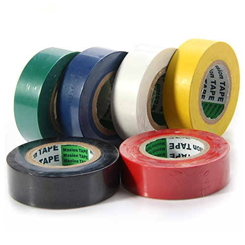 OLSUS PVC Durable Scrape-proof Moisture-proof Chemical-proof Insulating Tape Set (6 Colors) by OLSUS