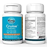 Vitability Cruise Probiotic supplement: 60 Servings Dietary Supplement; Releases Live Probiotics For Hours And Protects Probiotics From Stomach Acid! - 15 Times More Effective!