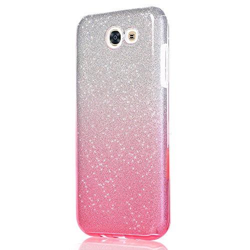 Funda Samsung Galaxy J3 Emerge, Magiyard Cubierta suave de la caja de parpadeo de degradado de color (D) D