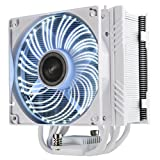 Enermax ETS-T50 Outstanding Cooling Performance CPU Cooler 250W+ TDP Intel/AMD PDF Design, DFR Technology, Autoplay LED, White, ETS-T50A-WVS
