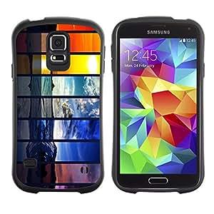 Hybrid Anti-Shock Bumper Case for Samsung Galaxy S5 / Beautiful World Seasons