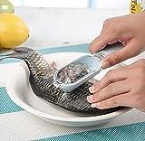 Drhob 2pcs Kitchen Helper Practical Fish Scale Scraper Kitchen Supplies Cooking Tools fishing peeler(Color random)
