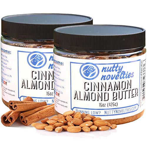 Nutty Novelties Cinnamon Almond Butter - High Protein, Sweet Almond Butter - All-Natural, Light Almond Butter Free of Cholesterol & Preservatives - Pure Almond Butter - 30 Ounces