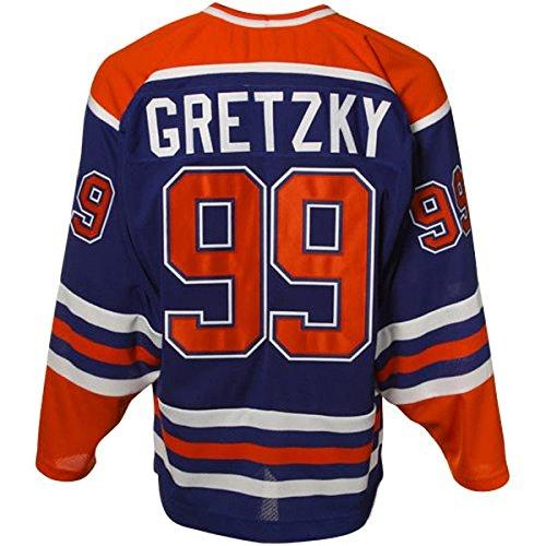 Mens Wayne Gretzky #99 Edmonton Oilers Heroes of Hockey Throwback Jersey - Royal Blue L