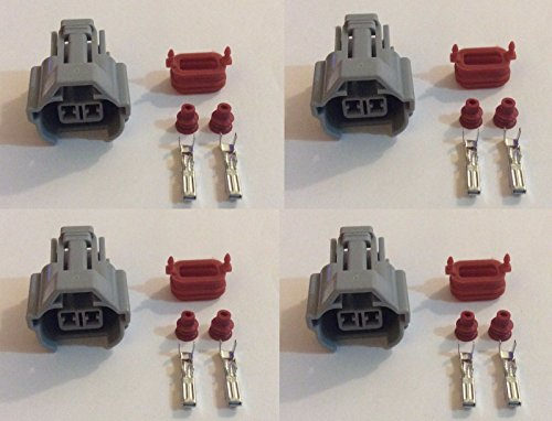 4 X Nippon Denso Fuel Injector Connector Helix 1jz 2jz Toyota W/out Wire (Sard Injector)