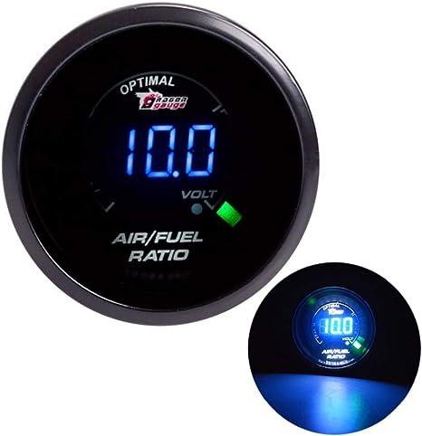 ESUPPORT 2 52mm Black Car Motor Digital Blue LED Light Vacuum LED Gauge Meter