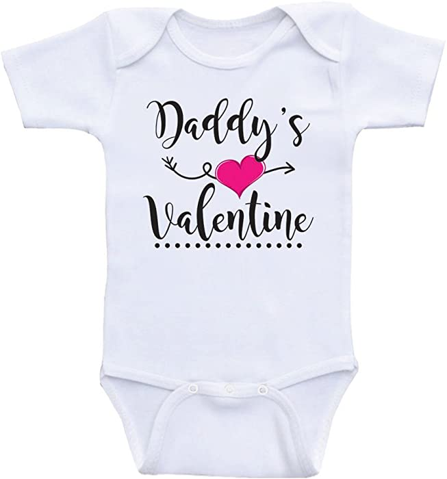 b8d63f19c8089 Amazon.com: Cute Valentines Day Baby Clothes Daddy's Valentine One ...