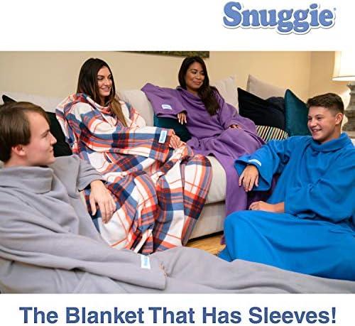 Blanket with Sleeves Plaid Blanket Heating Snuggie PLED Cape Fleece Winter