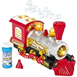 steam engine toys - Locomotive Steam Train Engine Car Bubble Blowing Bump & Go Battery Operated Toy Train w/ Lights & Sounds